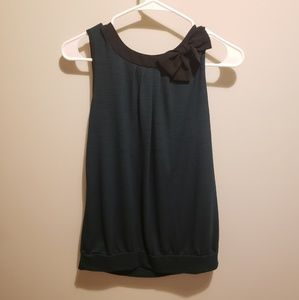 XS Loft green and black top excellent condition